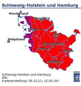 Schleswig-Holstein and Hamburg warnings