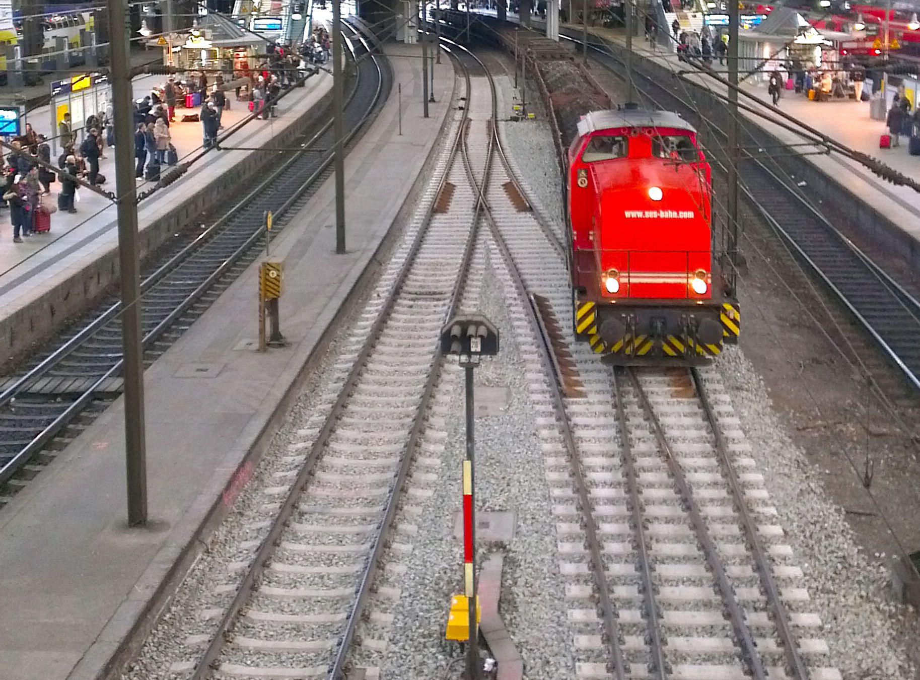 Construction works at Hauptbahnhof