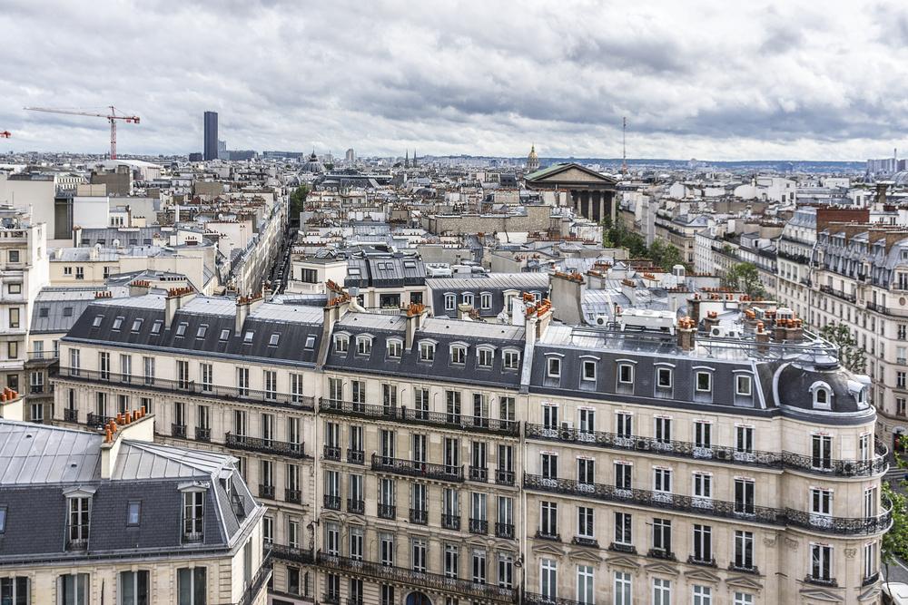 Vue sur les appartements du centre de Paris
