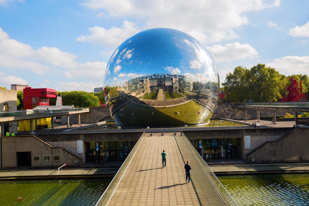 La Geode at the Cité des Sciences et de l'Industrie in the Parc de la Villette, Paris