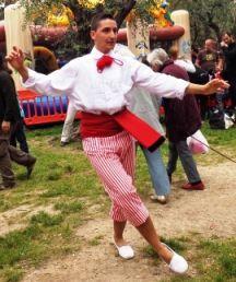 niçois dancer, traditional costume