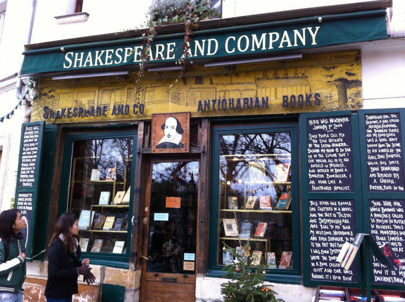 Shakespeare and Company bookstore Paris