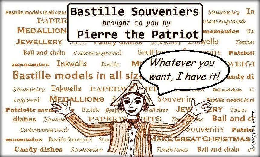 Pierre Palloy Patriot sells souvenirs