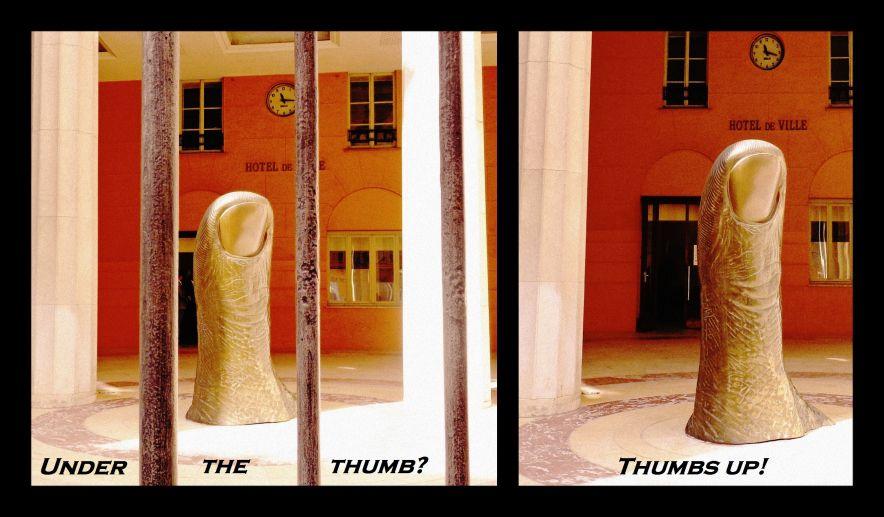 cesar thumb sculpture, nice france