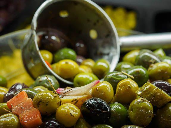 The olives from El Cabanyal food market are divine