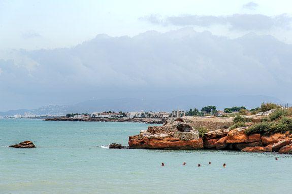 Men chewing the fat in the sea near Vinaros