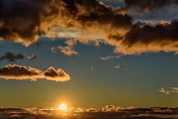 Sunset from my window, El Maestrat, February 2015