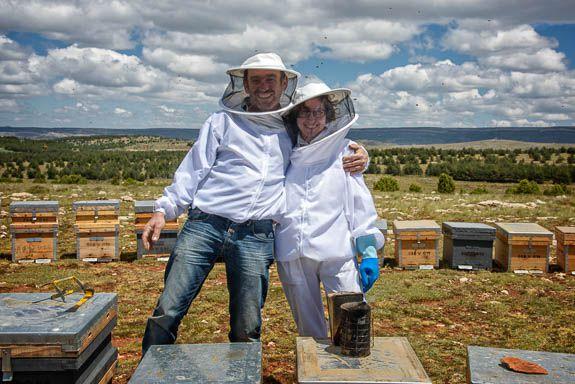 Toni the beekeeper and his partner Maria