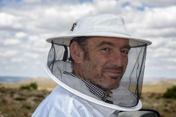 Toni the beekeeper has rugged East Clintwood like looks