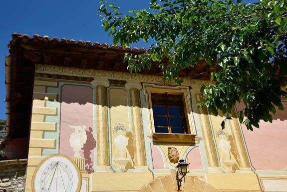 The facade of the erstwhile vicarage in La Estrella