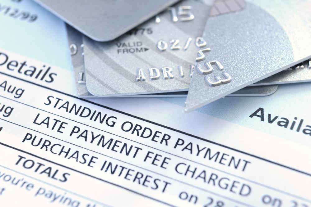 Credit card statement close-up
