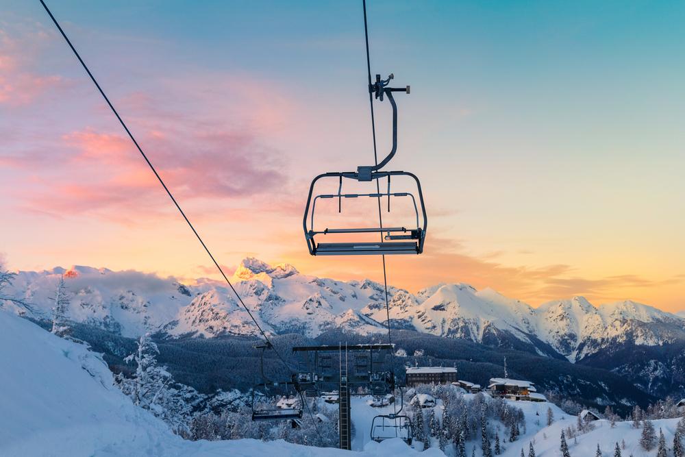 Ski center of Vogel, Triglav natural park, Julian Alps, Slovenia