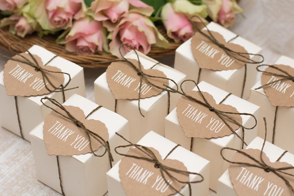 Pretty wedding thank you favours -