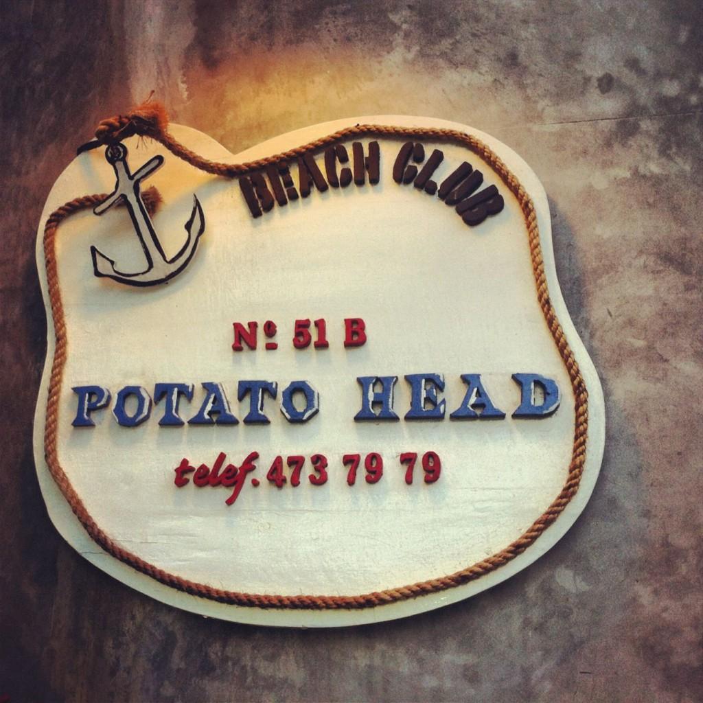Potato Head Beach Club sign