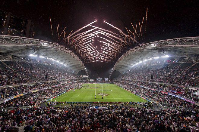 Rugby Sevens at Hong Kong stadium