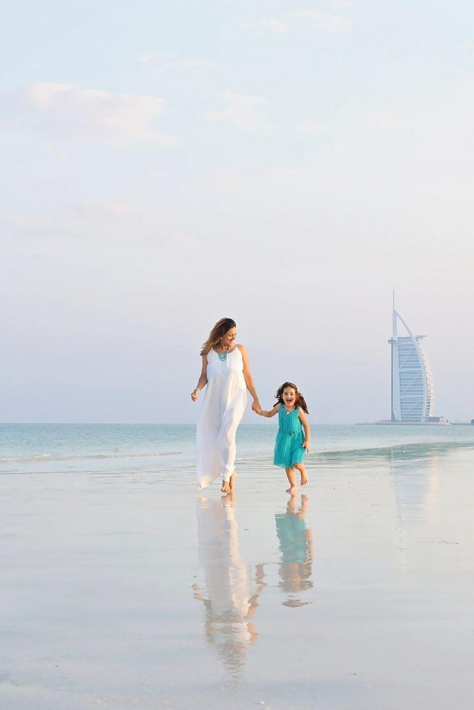 Walking on the beach in Dubai