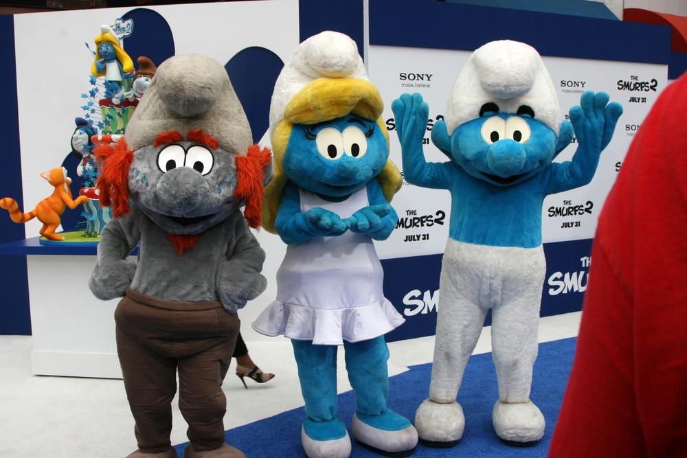 Three smurfs