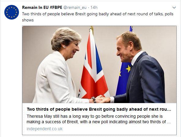 Copy of Brexit tweet