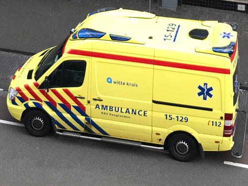 Dutch ambulance in South Holland