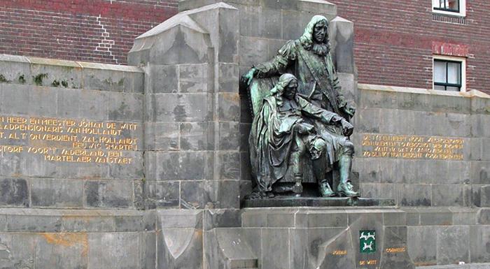 Johan and Cornelis de Witt monument Dordrecht Netherlands