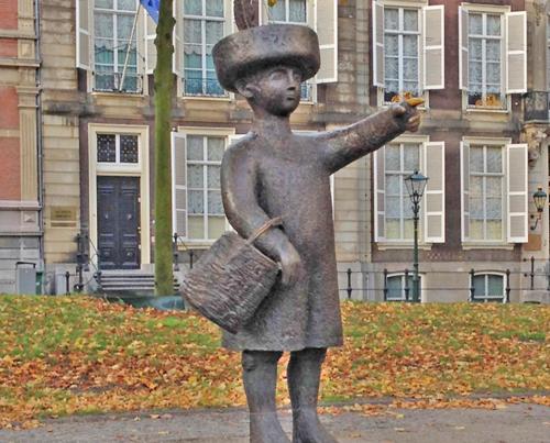 bronze Jantje statue