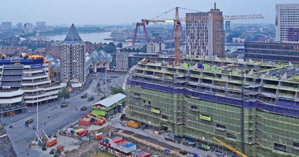 Markthal being built in Rotterdam