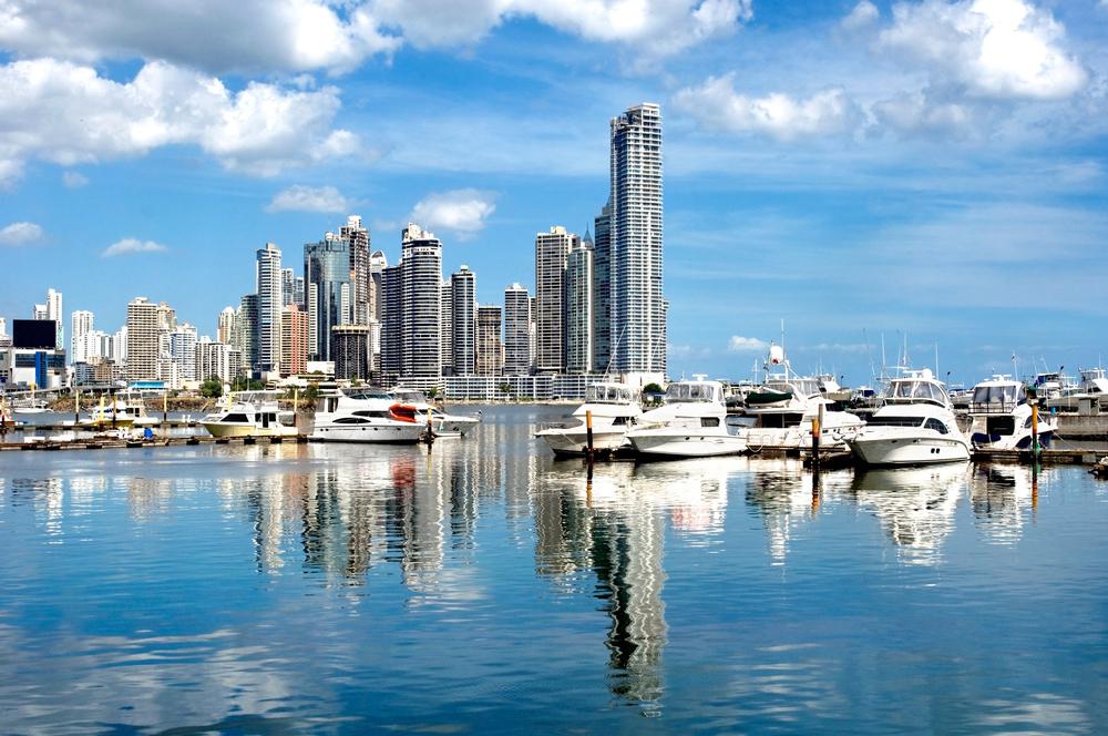 Panama City from the bay