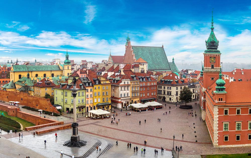 Skyline view of Warsaw, Poland