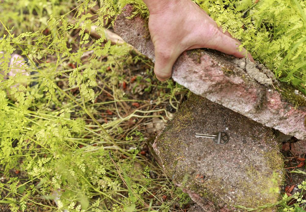 Key hidden under a rock
