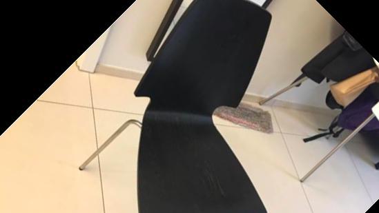 Ikea vilmar black chairs 6 chairs home garden for Chaise ikea vilmar
