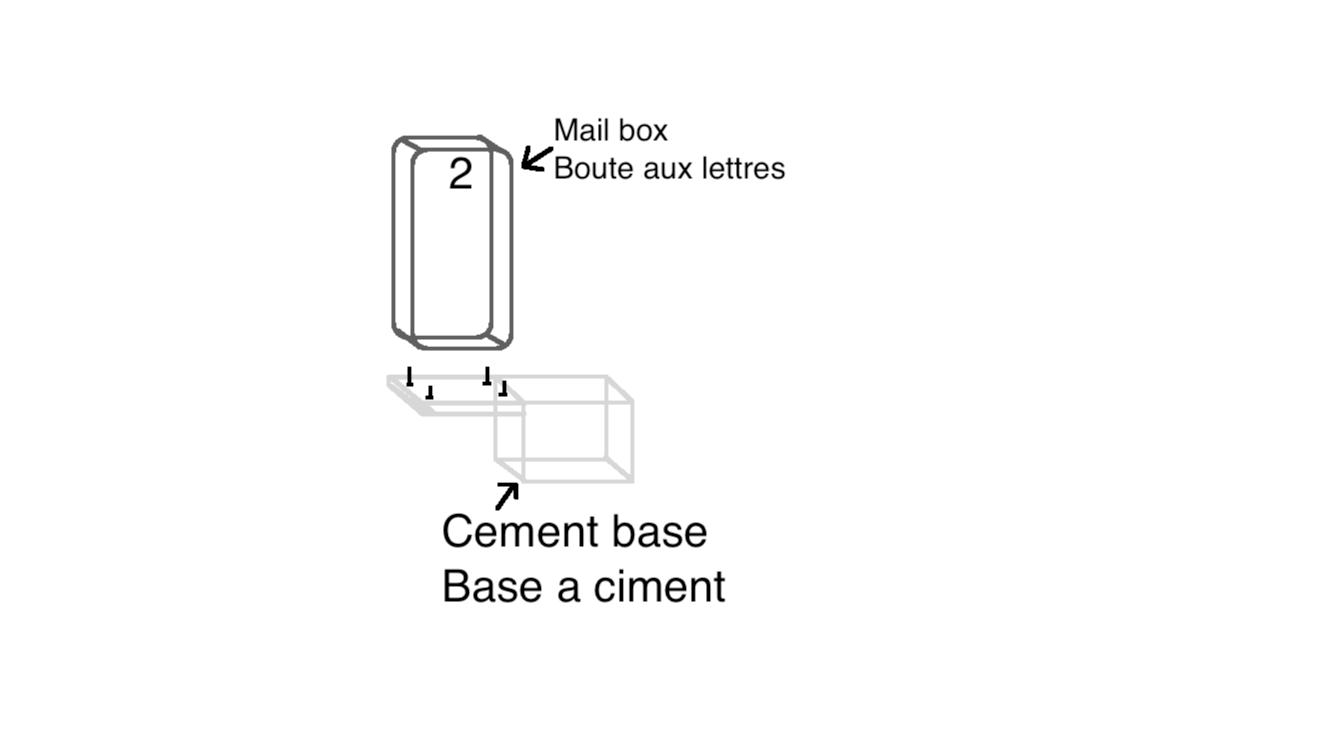 handyman to create cement base for mail box bricoleur pour installer boite aux lettres. Black Bedroom Furniture Sets. Home Design Ideas